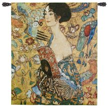 """Fine Art Tapestries """"Lady with Fan"""" Wall Tapestry - $170.00"""