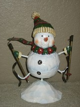Collectible Kohls Snowman Christmas Scarf & Hat  with Ski & Pole In Both... - $11.26