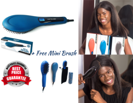Corioliss Professional  Hair Straightener Brush Set - Teal Color - $60.00