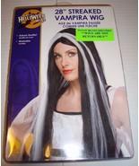 "Rubies 28"" Streaked Vampira Wig Black Gray Halloween Costume Rubie's - £16.68 GBP"