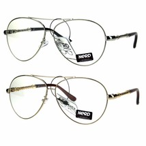 Nerd Metal Rebar Jewel Arm Designer Fashion Pilots Eyeglasses - $12.95
