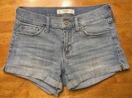 Abercrombie & Fitch Women's Denim Mini Short Shorts Daisy Duke Size: 0 W... - $14.01