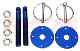 Universal Anodized Blue Hood Pin Kit Flip-Over Style for Mopar / Dodge - $10.14