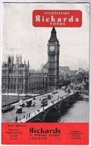 London England Richards Sightseeing Tours Brochure Catalog 16 pages Pict... - $4.35