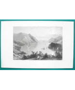 HUDSON RIVER View from Wet Point - 1856 Engraving Print by BARTLETT - $8.96