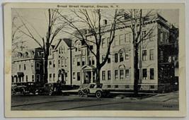 VTG Old White Border Print Postcard View Broad Street Hospital, Oneida, ... - $14.65