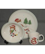 CHRISTMAS - HOLIDAY Home Beautiful DOWN THE CHIMNEY PATTERN 3 pc Child's... - $24.74