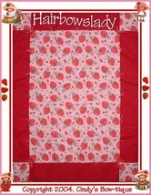 Pink Strawberry Shortcake Quilt Baby Girl Red Strawberries Lady Bugs Gir... - $55.00
