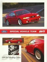 1999 Ford SVT MUSTANG COBRA sales brochure sheet US 99 - $9.00