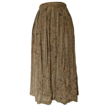 Vintage 70s Skirt Midi Paisley High Waist Pleated 1970s Size Small - $41.44