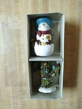 Sonoma Pepper Shakers Southwestern Happy Trails Holiday Christmas Xmas Set - £15.98 GBP