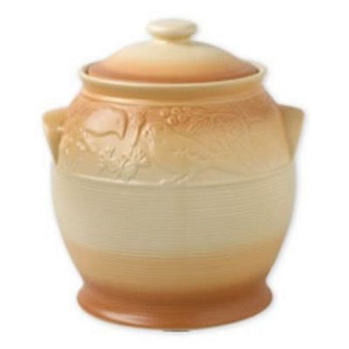Pfaltzgraff Sand Vista Storage Crock with Lid