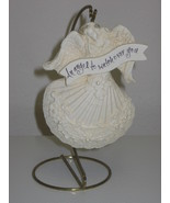 Decorative Seashell Angel Figurine Ornament & Stand - $8.00