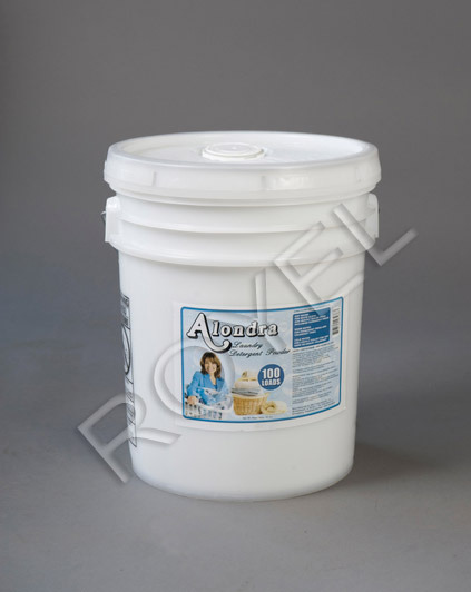 Alondra Powder Detergent 5 Gallon Pail - 1 table spoon per load, over 1000 loads