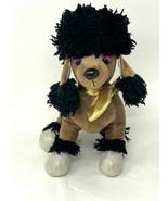"""Ganz Rockerz WebKinz Groovy Plush Poodle HM5106 Brown Stuffed Toy 9"""" No ... - $9.00"""