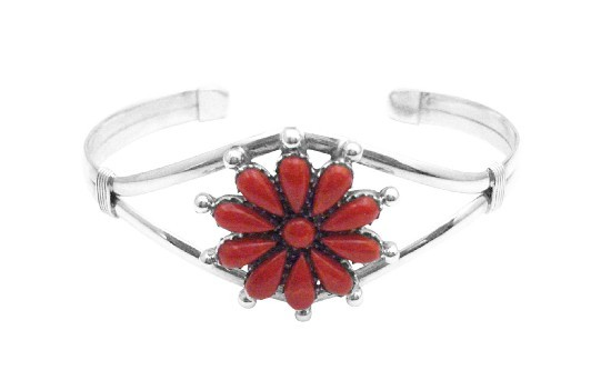 Birthday Gift For Mom Sophisticate Gift Sterling 925 Floral Coral