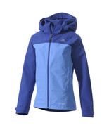 Adidas Women's Hiking OUTDOOR WALDLIGHT JACKET COAT MEDIUM M MEDIUM MD BLUE - £53.26 GBP