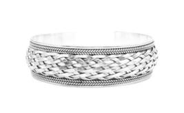 Sterling Silver Woven Solid Sterling Silver 925 Bracelet - $111.53