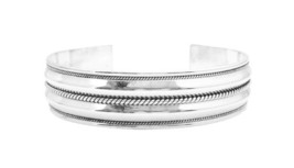 Double Row Sterling Silver Bracelet Twisted Design Mothers Day Gift - $86.18