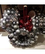 NEW Disney Parks 2020 Tinsel Silver Mickey Minnie Bow Head Icon Door Wreath - $69.29
