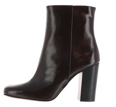 Vince Camuto Leather Heeled Ankle Boots Dannia Wine Patent 6M NEW A370846 - £103.32 GBP