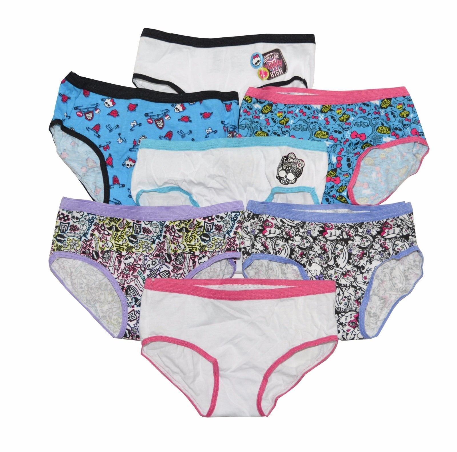 a7bc8efff9d Monster High Girls 7 Pack Hipster Panties - and 22 similar items. S l1600