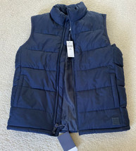 NEW Gap Kids Boys Factory Blue Puffer Vest Size Medium NWT - $23.36