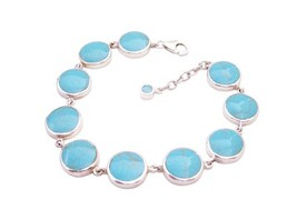 Gift & Presents Online Sterling Silver Attractive Turquiose Bracelet - $47.85