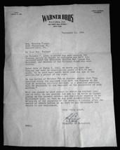 1941 vintage WWII WARNER BROS LETTER philadelphia pa Blanche FORMAN $10 ... - $34.95