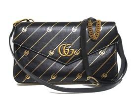 New $2890 Gucci Thiara Medium Double Envelope Logo Leather Shoulder Bag - $1,958.04