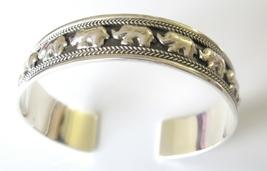 Elephants on Parade Sterling Silver 92.5 Cuff Bracelet - $67.35