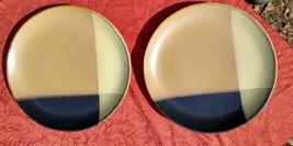 "Sango Gold Dust Black Dinner Plates 5022 - 10 3/4"" - Lot of 2 - $24.97"