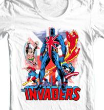 Union Jack The Invaders T Shirt vintage Marvel Comics 1970's graphic tee Namor image 2