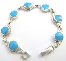 Turquoise Sterling Silver 92.5 Bracelet Sterling Bracelet - $53.03