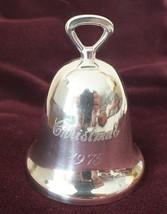 Vintage REED & BARTON 1975 Silverplate Bell Christmas Ornament (no box)  - $13.96