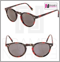 OLIVER PEOPLES ALAIN MIKLI GREGORY PECK SUN Palmier Red Tropical Sunglas... - $211.17
