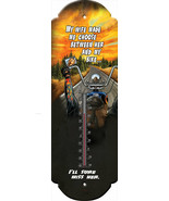 "Nostalgic Tin Thermometer ""Wife Made Me Choose her or bike ""  Wall Hanging - $12.25"