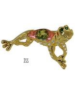 Singing Frog Brooch Lapel Pin - $10.50