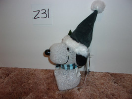 """Peanuts COLOR CHANGING WINTER SNOOPY WITH HAT AND SCARF LIGHTS UP 8""""H - $16.99"""