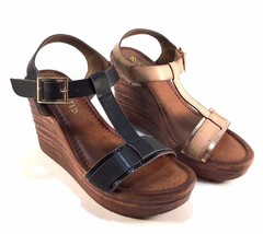 Restricted Toyko Wedge Platform T-Strap Sandals Choose Sz/Color - $44.80