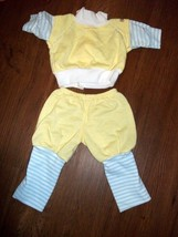 Cabbage Patch Kids Vtg 3 Pc Sweats: YELLOW/BLUE/WHT With Headband - $9.00