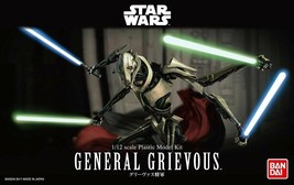 Bandai Hobby Star Wars General Grievous 1/12 Scale Model Kit Action Figure - $44.99