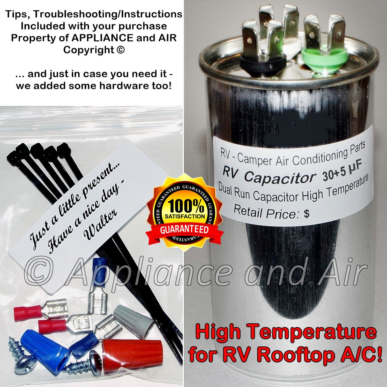 30 5 rv capacitor and hardware