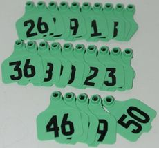 Destron Fearing DuFlex Visual ID Livestock Panel Tags LG Green 25 Sets 26 to 50 image 5