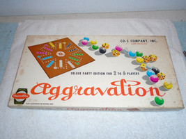 VINTAGE 1960 AGGRAVATION DELUXE MARBLE BOARD GAME COMPLETE NICE - $29.99