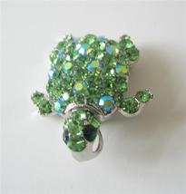 Austrian Green Crystals Hard to Find Turtle Bro... - $18.58