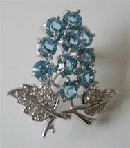 Smashing Aquamarine Crystals Tree Brooch Pin - $14.68