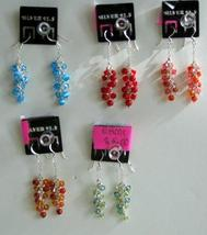 Semi Precious Beads Dangling Sterling 92.5 Earrings - $9.50