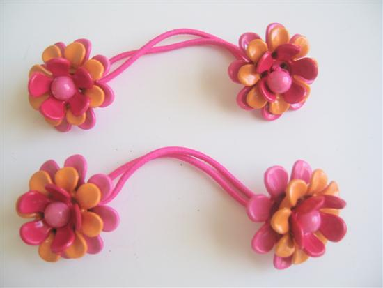 Primary image for Colorful Flower Rubber Band Girls Hair Accessory