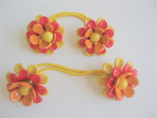 Primary image for Flower Hair Rubber Band Beautiful Colors